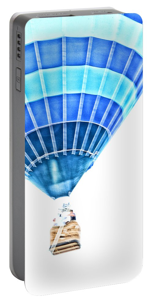 Hot Air Balloon Portable Battery Charger featuring the photograph Up Up And Away by Karol Livote