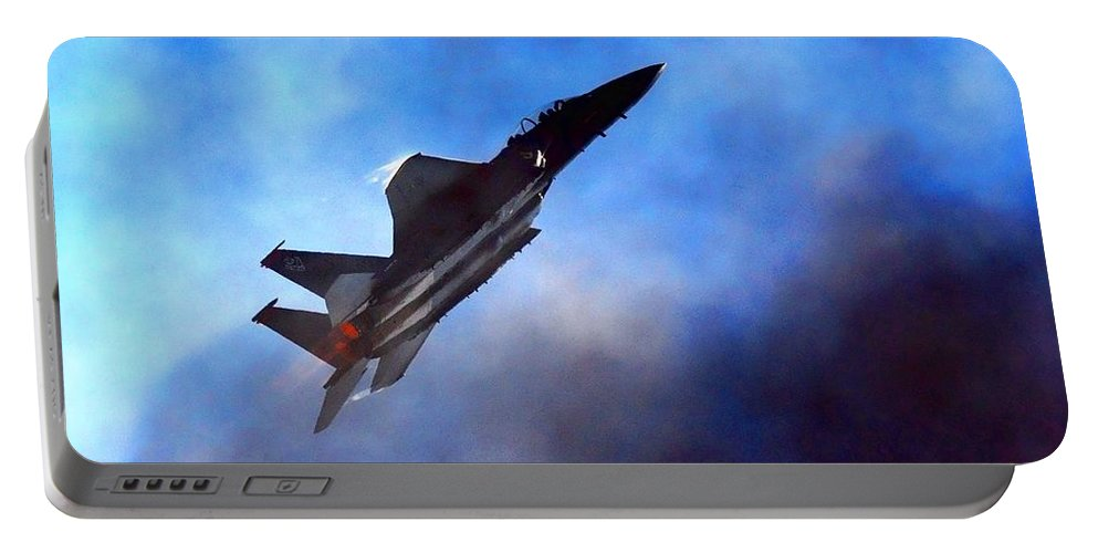 Jet Fighter Portable Battery Charger featuring the photograph Up Up N Away by Randy Giesbrecht