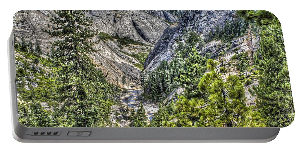 Ponderosa Pines Portable Battery Charger featuring the photograph Upper Bear River Valley by SC Heffner