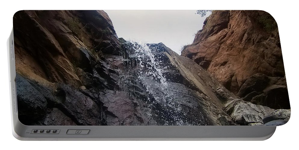 Waterfall Portable Battery Charger featuring the photograph Upper Dorothy Falls 2 by Chris Flees
