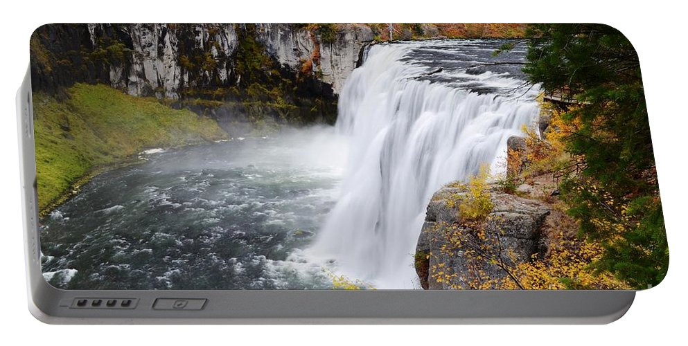 Mesa Falls Portable Battery Charger featuring the photograph Upper Mesa by Deanna Cagle