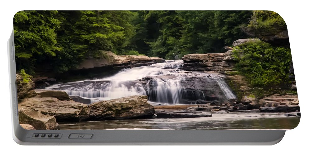 Waterfall Portable Battery Charger featuring the photograph Upper Swallow Falls by Chris Flees