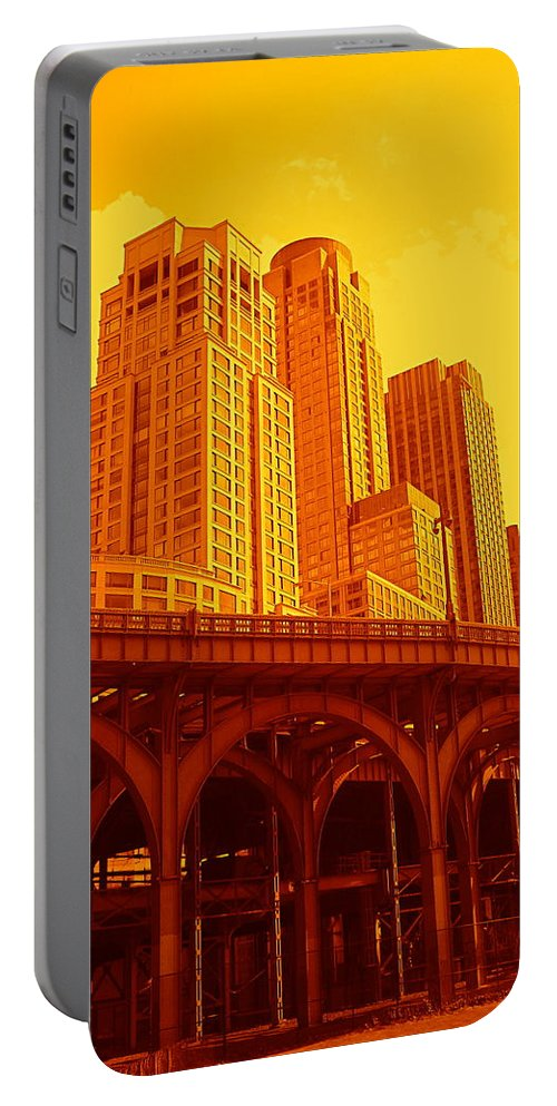 Manhattan Prints And Posters Portable Battery Charger featuring the photograph Upper West Side And Hudson River Manhattan by Monique's Fine Art