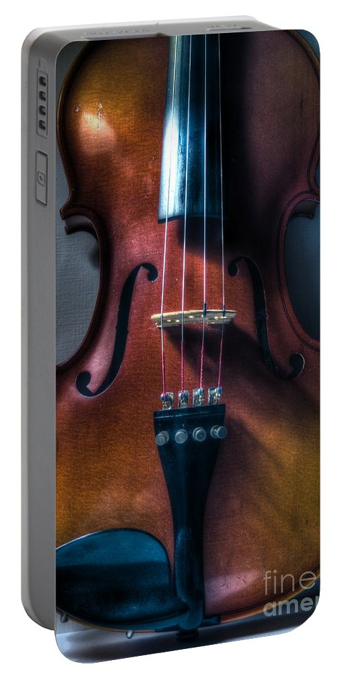 Violin Portable Battery Charger featuring the photograph Upright Violin - Cool by J M Lister
