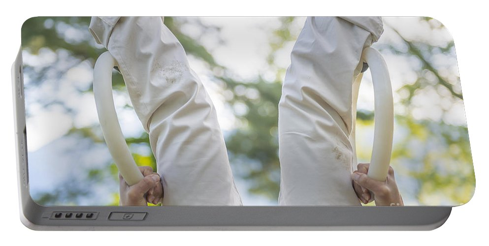 Balance Portable Battery Charger featuring the photograph Upside Down by Mats Silvan