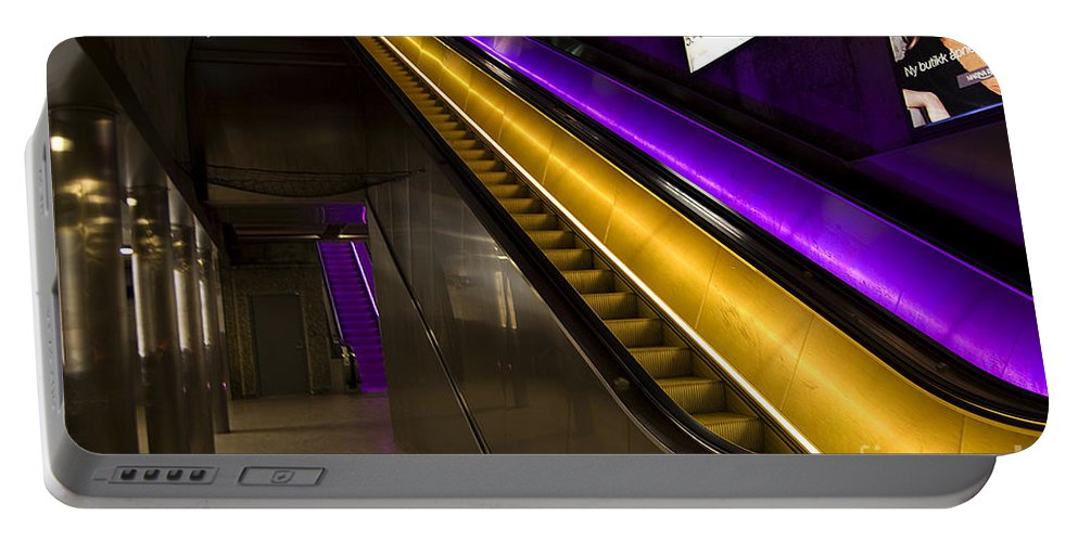 Festblues Portable Battery Charger featuring the photograph Urban Lights.. by Nina Stavlund