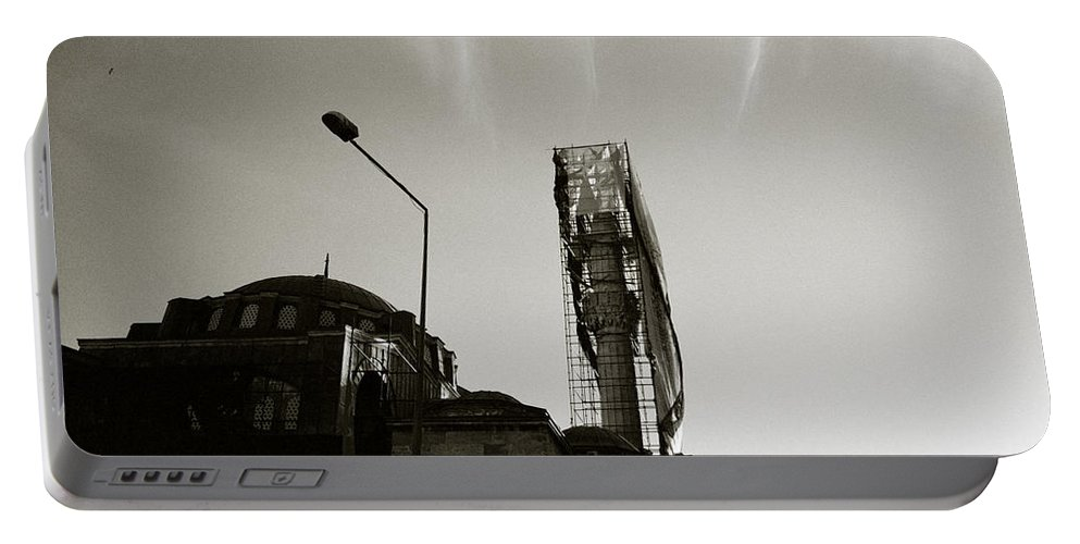 Silhouette Portable Battery Charger featuring the photograph Urban Mosque by Shaun Higson