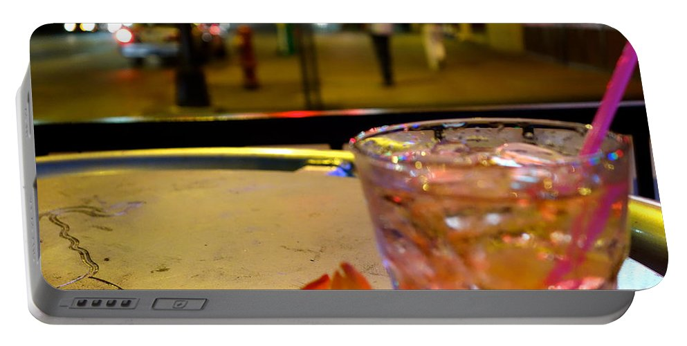 Drink Portable Battery Charger featuring the photograph Urban Reception by Jacqueline Athmann