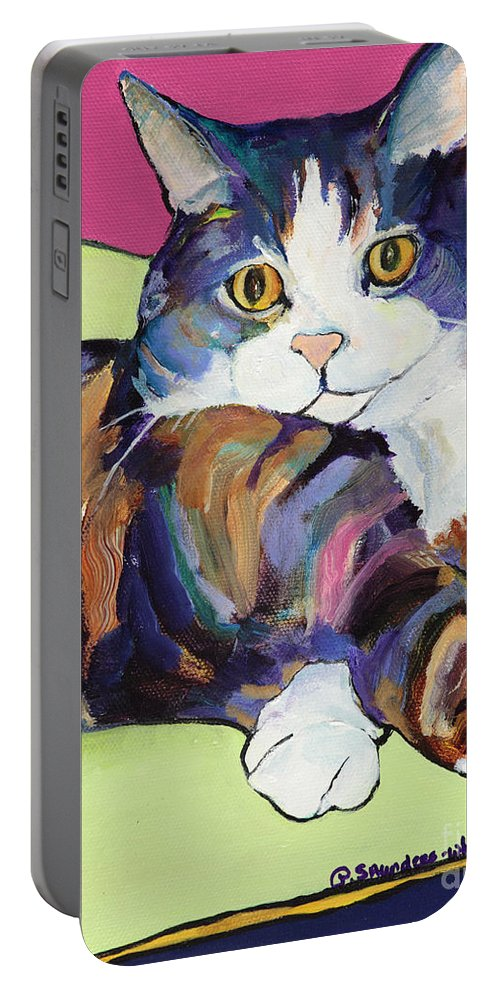 Pat Saunders-white Canvas Prints Portable Battery Charger featuring the painting Ursula by Pat Saunders-White