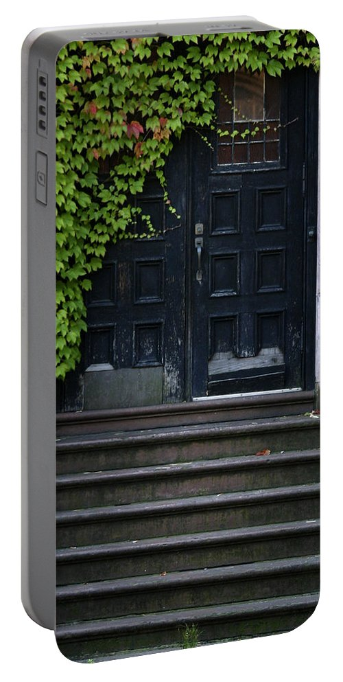 Ivy Portable Battery Charger featuring the photograph Use Other Door by Guy Shultz