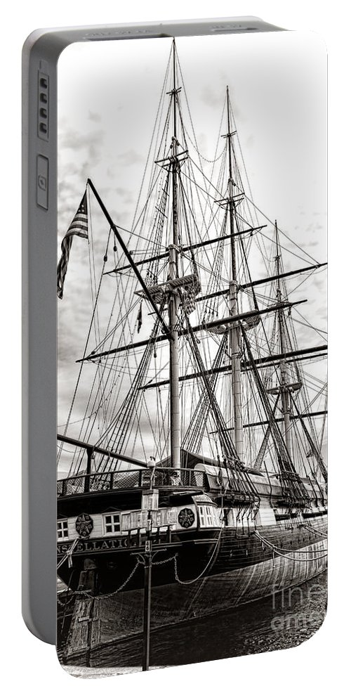 Uss Portable Battery Charger featuring the photograph Uss Constellation by Olivier Le Queinec