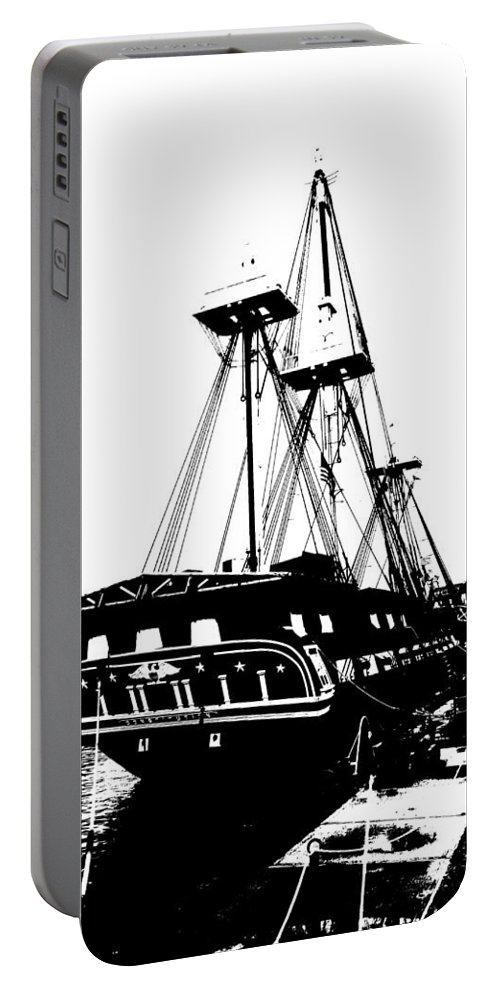 Uss Constitution Portable Battery Charger featuring the photograph Uss Constitution 2 by Charlie and Norma Brock