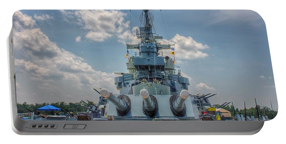 Uss North Carolina Portable Battery Charger featuring the photograph Uss North Carolina by Chris Berrier