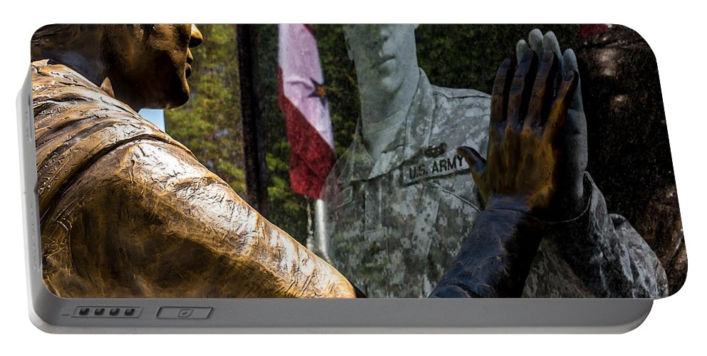 Memorial Portable Battery Charger featuring the photograph Utah Freedom Memorial by Gary Whitton