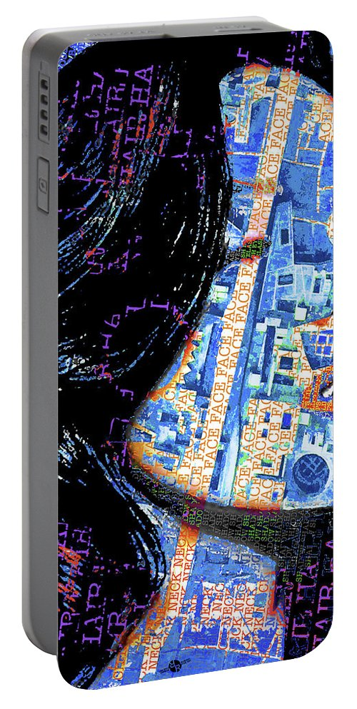 Woman Portable Battery Charger featuring the painting Vain Portrait Of A Woman by Tony Rubino