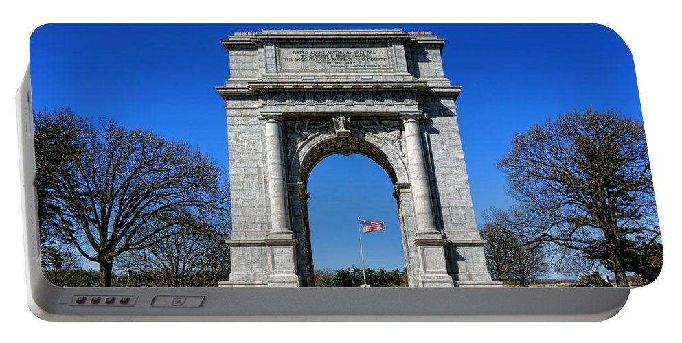 National Portable Battery Charger featuring the photograph Valley Forge Park Memorial Arch by Olivier Le Queinec