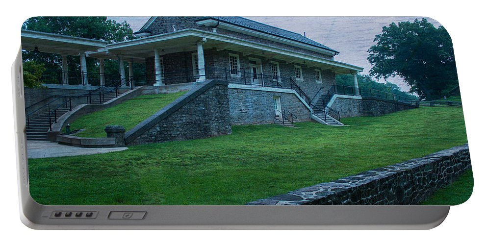 Valley Forge National Park Portable Battery Charger featuring the photograph Valley Forge Station by Michael Porchik