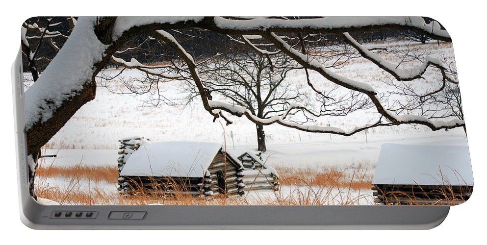 Valley Forge Portable Battery Charger featuring the photograph Valley Forge Winter 14 by Terri Winkler