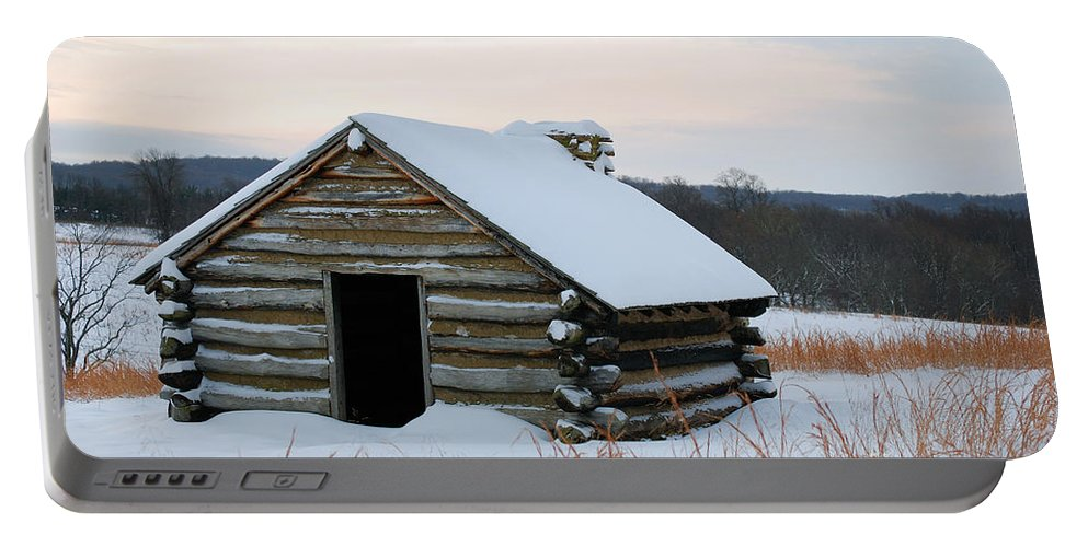 Valley Forge Portable Battery Charger featuring the photograph Valley Forge Winter 2 by Terri Winkler