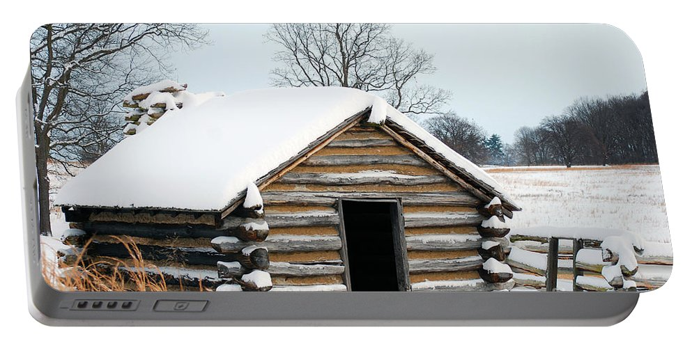 Valley Forge Portable Battery Charger featuring the photograph Valley Forge Winter 3 by Terri Winkler