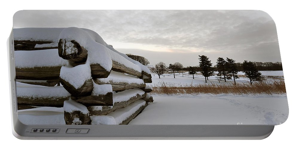 Valley Forge Portable Battery Charger featuring the photograph Valley Forge Winter 8 by Terri Winkler