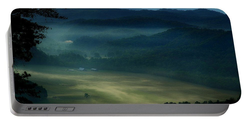 Smoky Mountains Portable Battery Charger featuring the photograph Valley In The Smokies by Michael Eingle