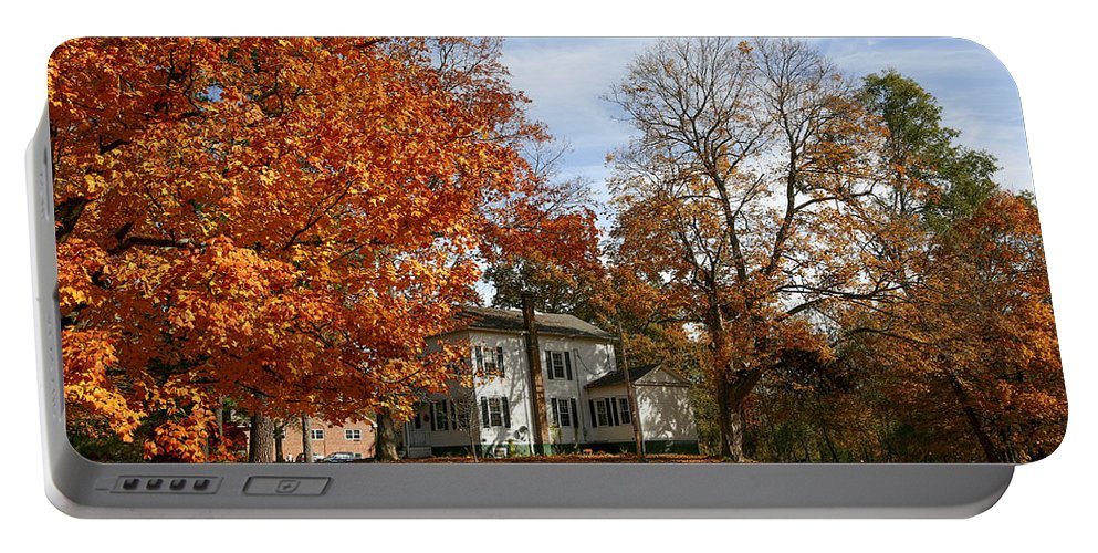 Martin Van Buren National Historic Site Portable Battery Charger featuring the photograph Van Buren Estate In Fall by Eric Swan