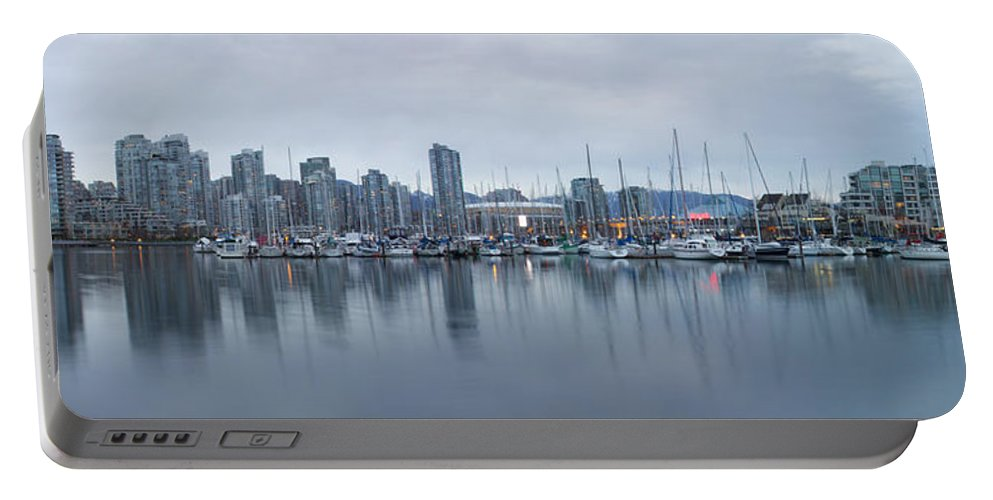 Architecture Portable Battery Charger featuring the photograph Vancouver Panorama by Genaro Rojas