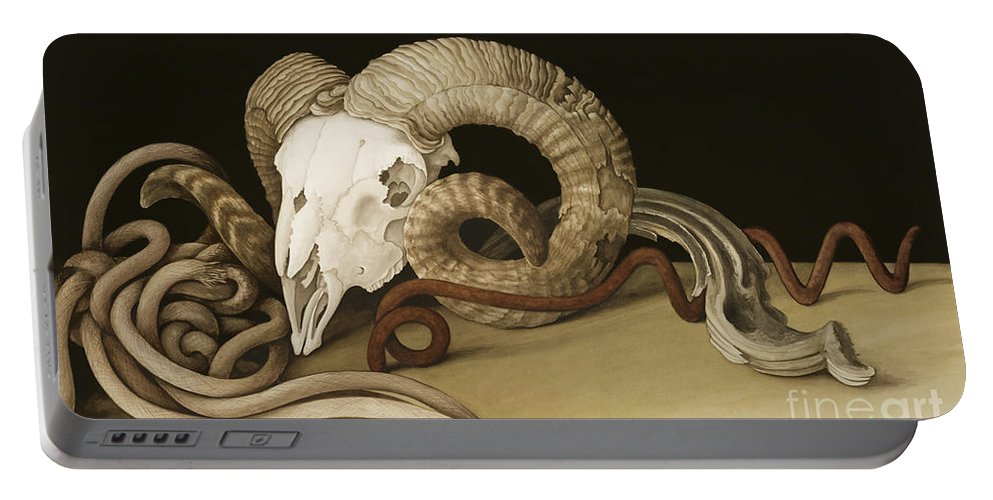 Vanitas Portable Battery Charger featuring the painting Vanitas by Jenny Barron