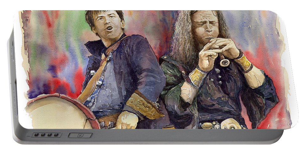 Watercolour Portable Battery Charger featuring the painting Varius Coloribus 2 by Yuriy Shevchuk