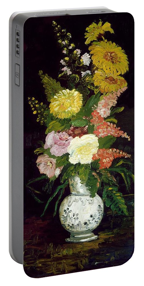 Van Gogh Portable Battery Charger featuring the painting Vase Of Flowers, 1886 by Vincent van Gogh