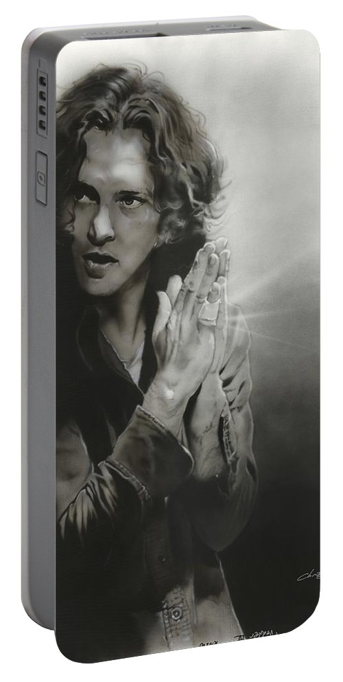 Portable Battery Charger featuring the painting Vedder Iv by Christian Chapman Art