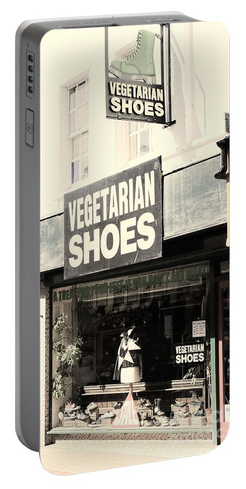 Vegetarian Portable Battery Charger featuring the photograph Vegetarian Shoes by Jasna Buncic