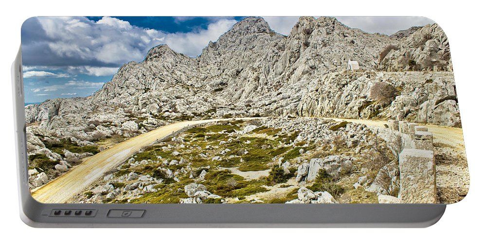 Tulove Grede Portable Battery Charger featuring the photograph Velebit Mountain Road Serpentine Near Tulove Grede by Brch Photography