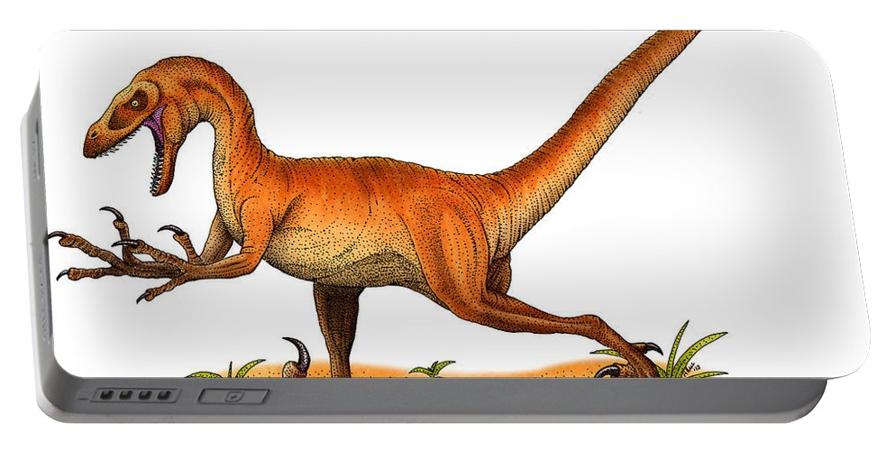 Reptile Portable Battery Charger featuring the photograph Velociraptor by Roger Hall
