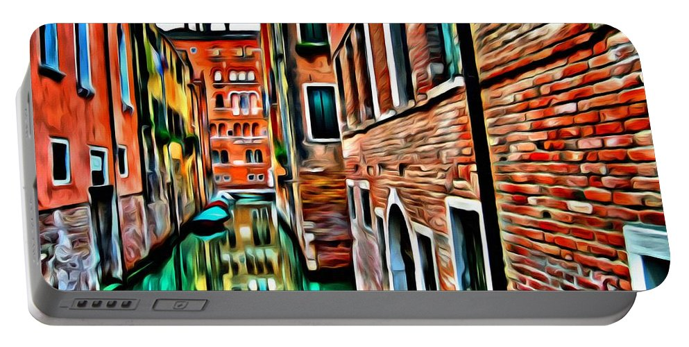 Venice Portable Battery Charger featuring the painting Venezia Mi Amor by Florian Rodarte