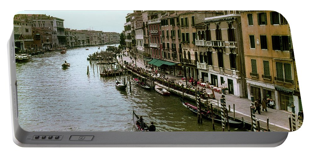 Venice Grand Canal Canals Building Buildings Boat Boats Dock Docks Gondola Gondolas Structure Structures Shop Shops Stores Architecture People Person Persons Water Italy City Cities Cityscape Cityscapes Waterscape Waterscapes Portable Battery Charger featuring the photograph Venice Grand Canal by Bob Phillips