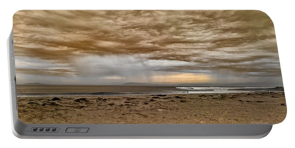 Ventura In Storm Portable Battery Charger featuring the photograph Ventura In Storm by Angela Stanton