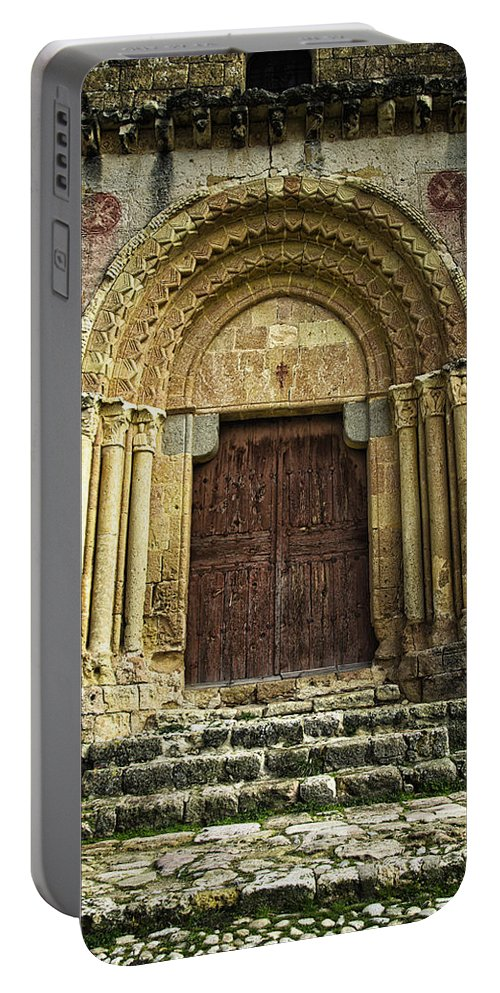 Door Portable Battery Charger featuring the photograph Vera Cruz Door by Joan Carroll