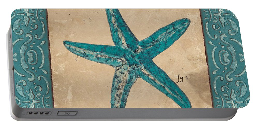Coastal Portable Battery Charger featuring the painting Verde Mare 1 by Debbie DeWitt