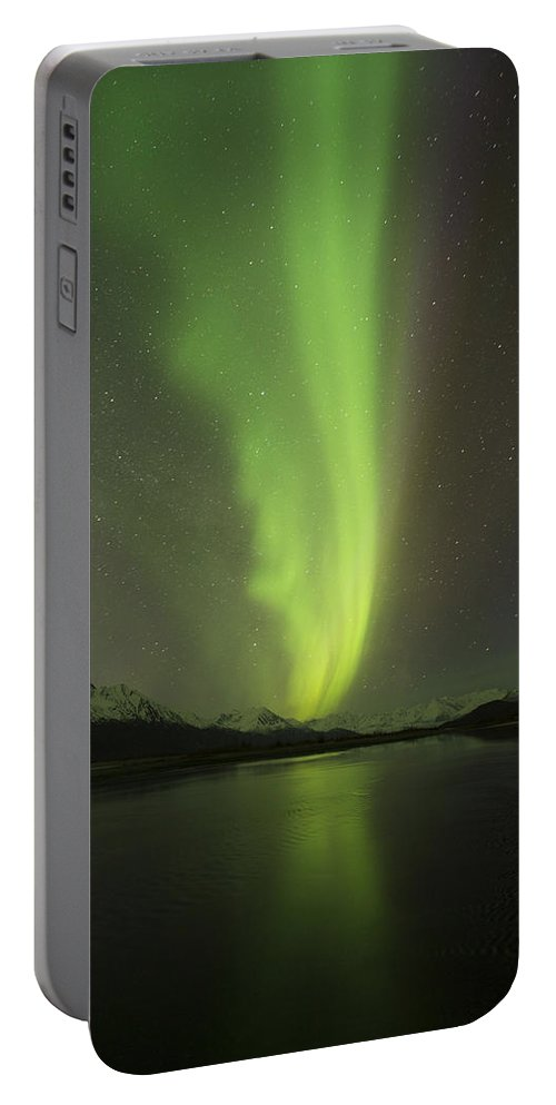 Aurora Portable Battery Charger featuring the photograph Plasma Stream by Ted Raynor