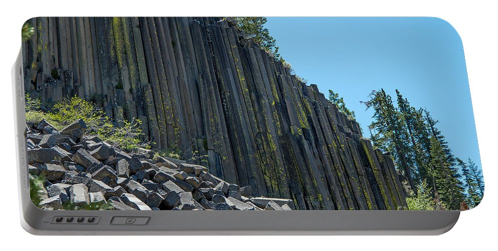 Devils Postpile Portable Battery Charger featuring the photograph Vertical View by Stephen Whalen