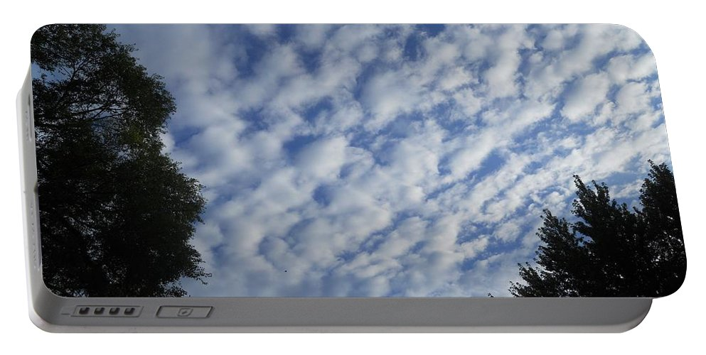Clouds Portable Battery Charger featuring the photograph Vertigo by Coleen Harty