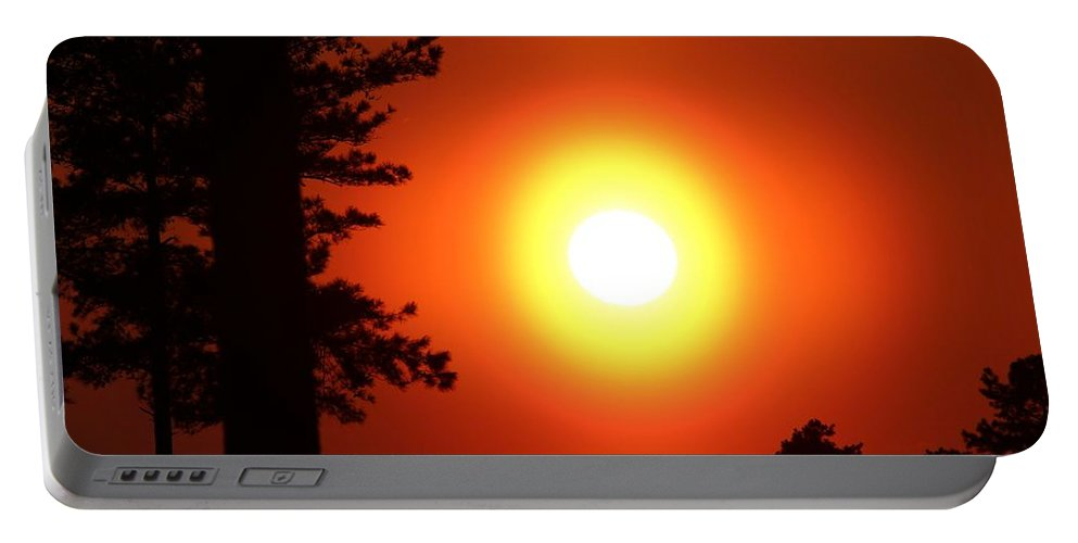 Color Portable Battery Charger featuring the photograph Very Colorful Sunset by Cynthia Guinn