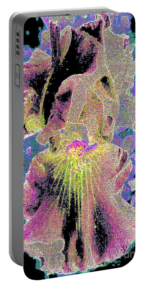 Iris Portable Battery Charger featuring the photograph Very Fancy Lady by Jerome Stumphauzer