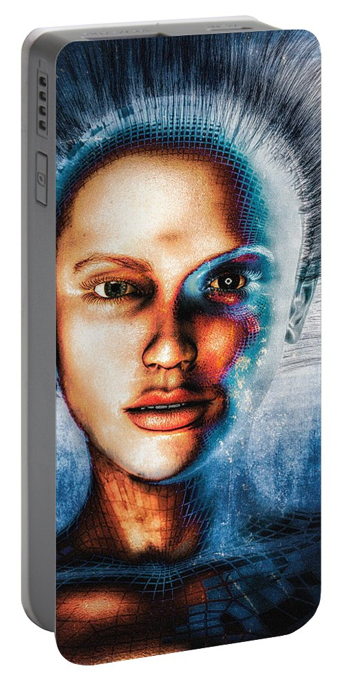 Face Portable Battery Charger featuring the photograph Very Social Network by Bob Orsillo