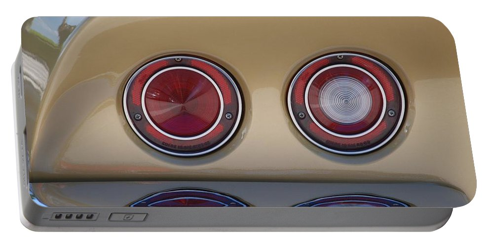 Corvette Portable Battery Charger featuring the photograph Vette Lights by Rob Hans