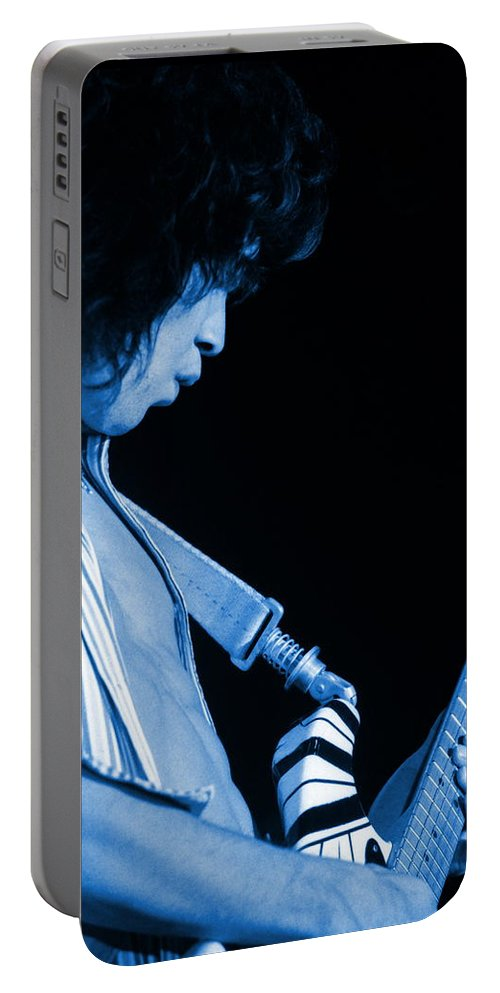 Van Halen Portable Battery Charger featuring the photograph Vh #18 In Blue by Ben Upham