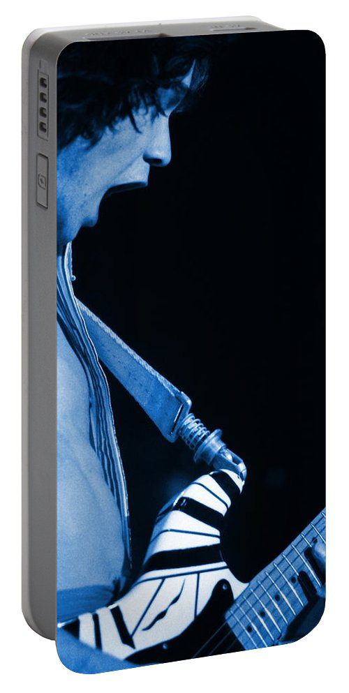 Van Halen Portable Battery Charger featuring the photograph Vh #19 In Blue by Ben Upham