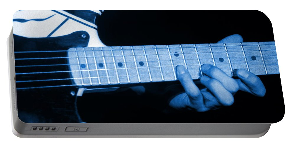 Van Halen Portable Battery Charger featuring the photograph Vh #20 In Blue by Ben Upham